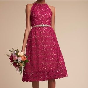 BHLDN Hitherto Purple Lace Dress